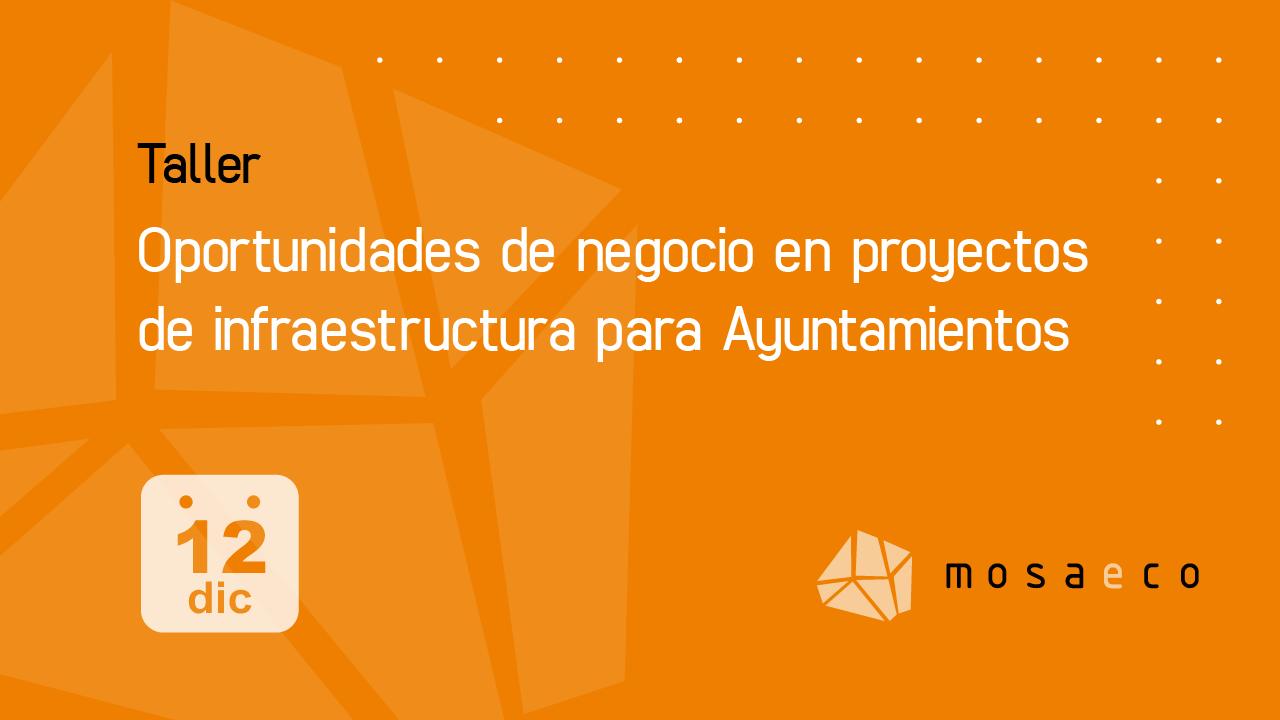Taller sobre oportunidades de negocio en proyectos de infraestructura para Ayuntamientos