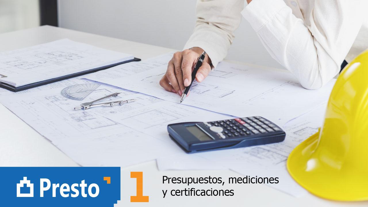Curso 'Presto. Presupuestos, mediciones y certificaciones' (módulo 1)