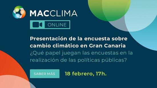 Presentación de la encuesta sobre cambio climático en Gran Canaria